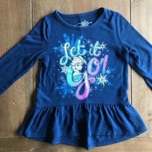 Frozen let it go Elsa longsleeve 4T